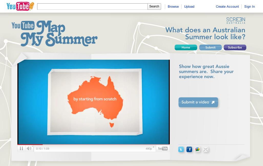 australian youtube logo doodle