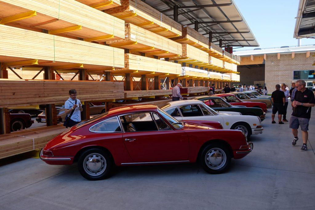 Timber alley Porsche lineup